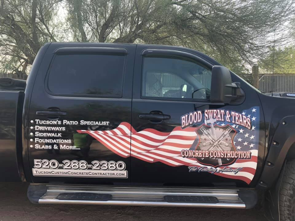 concrete company Blood Sweat and Tears Concrete construction llc tucson az