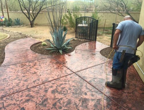 DIY:  HOW TO REFINISH YOUR DECORATIVE  TUCSON CONCRETE