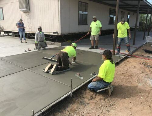 Do I need to be home to have concrete installed?